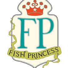 Fish Princess-luxury bath, branding, print, packaging, illustration